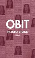 Cover image for Obit : poems