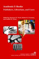 Cover image for Academic e-books  publishers, librarians, and users