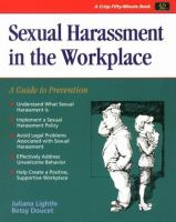 Cover image for Sexual harassment in the workplace a guide to prevention