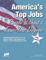 Cover image for America's top jobs for people without a four-year degree.
