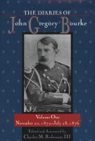 Cover image for The diaries of John Gregory Bourke