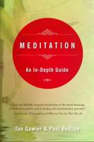 Cover image for Meditation : an in-depth guide