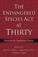 Cover image for The Endangered Species Act at thirty