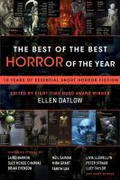 Cover image for The best of the best horror of the year : 10 years of essential short horror fiction