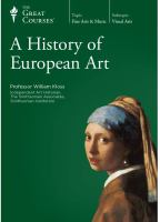 Cover image for A History of European art