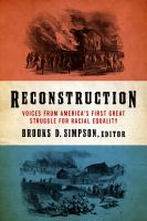 Cover image for Reconstruction : voices from America's first great struggle for racial equality