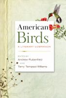 Cover image for American birds : a literary companion