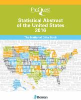 Cover image for ProQuest statistical abstract of the United States : 2016