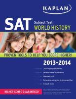 Imagen de portada para SAT subject test. World history