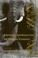 Cover image for Critical approaches to Joseph Conrad