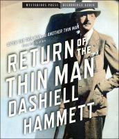 Imagen de portada para Return of the thin man