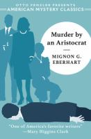Cover image for Murder by an aristocrat