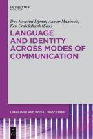 Cover image for Language and identity across modes of communication