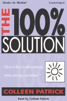Cover image for The 100% solution