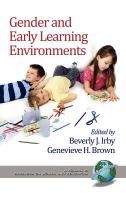 Cover image for Gender and early learning environments