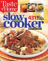 Cover image for Slow cooker cookbook : 431 hot & hearty classics