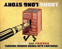 Cover image for Long story short : turning famous books into cartoons