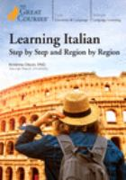 Cover image for Learning Italian : step by step and region by region.