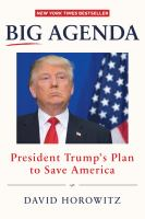 Cover image for Big agenda : President Trump's plan to save America