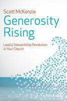 Cover image for Generosity rising  lead a stewardship revolution in your church