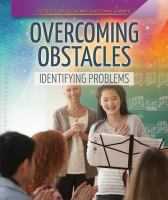 Cover image for Overcoming obstacles : identifying problems