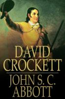 Cover image for David Crockett  his life and adventures