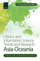 Cover image for Library and information science trends and research Asia-Oceania