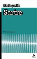 Cover image for Starting with Sartre