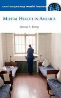 Cover image for Mental health in America : a reference handbook