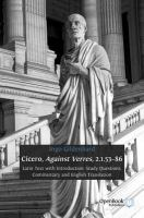 Cover image for Cicero, against Verres, 2.1.53-86 : Latin text with introduction, study questions, commentary and English translation