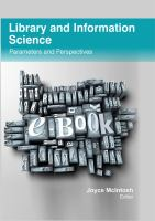 Cover image for Library and information science parameters and perspectives