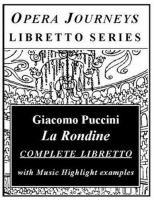Cover image for Puccini's La Rondine The Swallow