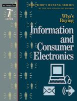 Cover image for Who's buying information and consumer electronics
