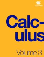 Cover image for Calculus. Volume 3