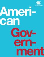 Cover image for American government