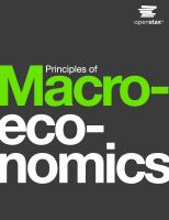 Cover image for Principles of macroeconomics