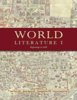 Cover image for World literature I. Part one, The Ancient world : beginnings to 1650