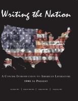 Cover image for Writing the nation : a concise introduction to American literature 1865 to present