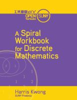 Cover image for A spiral workbook for discrete mathematics