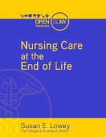Cover image for Nursing care at the end of life : what every clinician should know