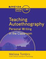 Cover image for Teaching autoethnography : personal writing in the classroom