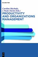Cover image for Productivity and organizational management
