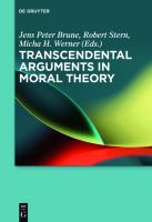 Cover image for Transcendental arguments in moral theory
