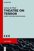 Cover image for Theatre on terror  subject positions in British drama
