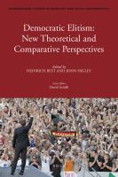 Cover image for Democratic elitism new theoretical and comparative perspectives