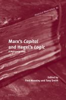 Cover image for Marx's capital and Hegel's logic  a reexamination