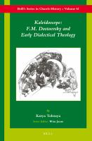 Cover image for Kaleidoscope F.M. Dostoevsky and the early dialectical theology