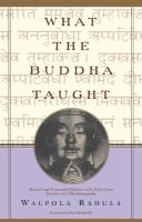 Cover image for What the Buddha taught