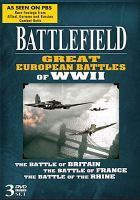 Cover image for Battlefield. Great European battles of WWII