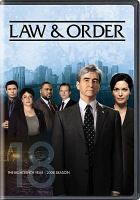 Cover image for Law & order The 18th year, 2008 season.